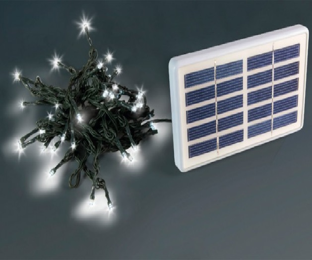 Luci di natale da esterno a energia solare arborea grigio