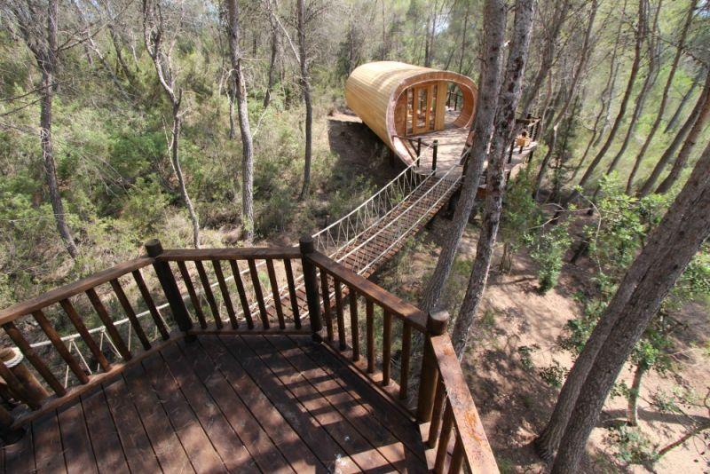 La casa sull 39 albero basata sulla spirale di fibonacci la for Foto di ponti su case