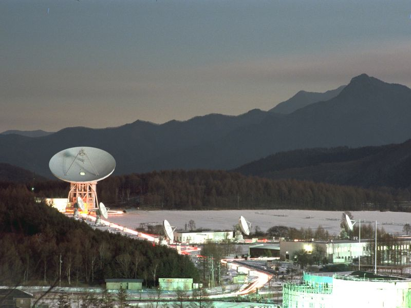 Un'immagine del Nobeyama Radio Observatory in Giappone