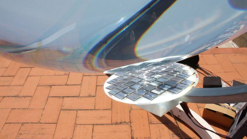 Dettaglio della sfera di vetro