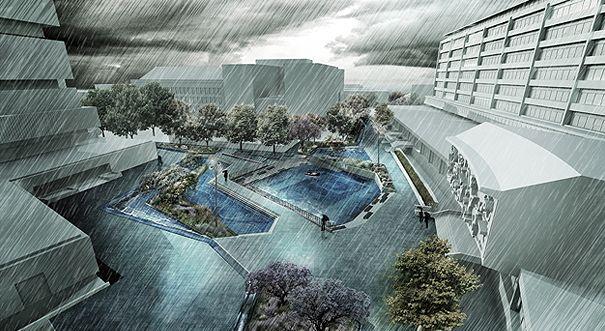 Water Squares Un Nuovo Sistema Per Stoccare L Acqua Piovana