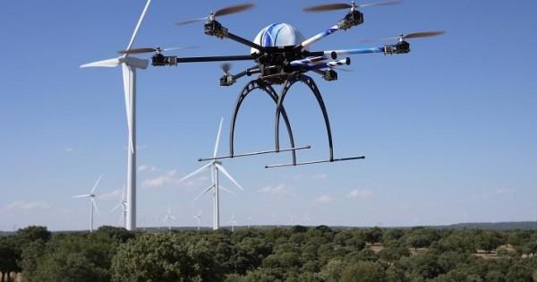 Elicottero Etimologia : Droni a forma di ragno controllo dei parchi eolici