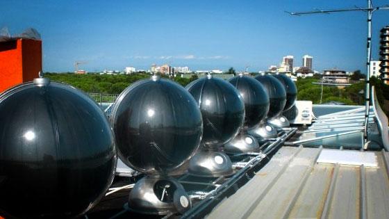 Pannello Solare Termico Giardino : Sferasol un innovativo pannello solare termico