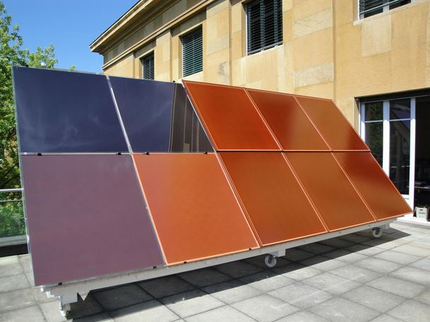 Nascono in svizzera i primi pannelli solari colorati ed for Pannelli solari immagini