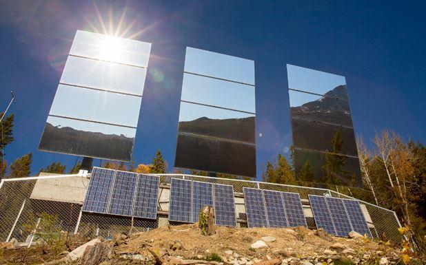 Come raffreddare un edificio con la luce del sole e senza elettricit - Specchio che si rompe da solo ...