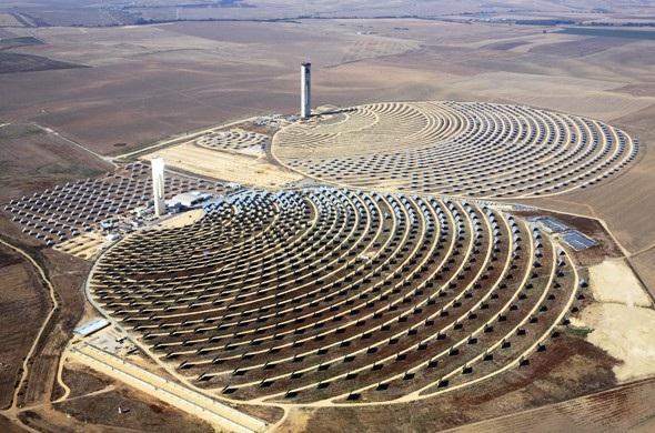 Solare termodinamico o solare a concentrazione esempi di - Centrale solare a specchi piani ...