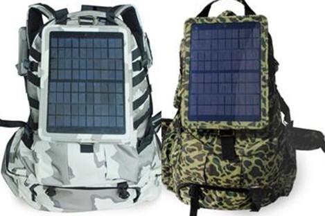 a0e946d2e2 Zaini e borse con pannelli solari per ricaricare cellulari ...