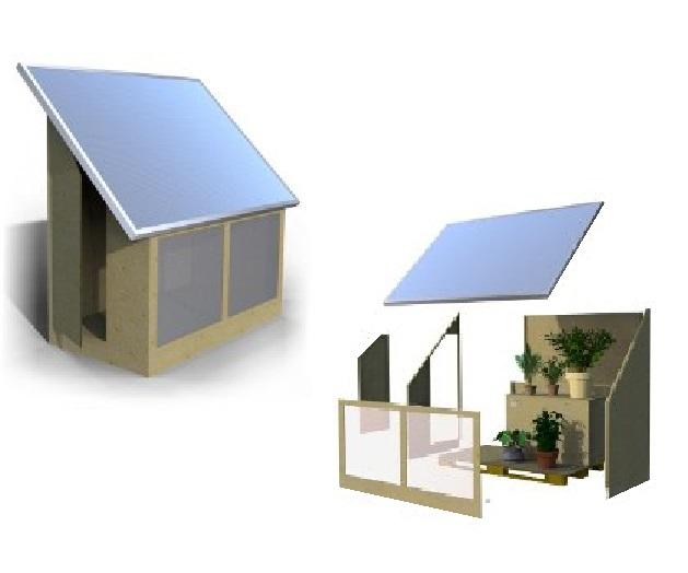 La casetta da giardino solare termica - Serra bioclimatica normativa ...